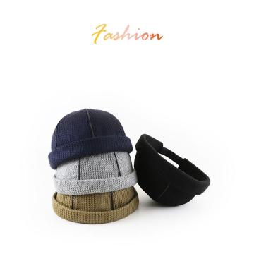 Knitted wool hat melon skin hat landlord hat