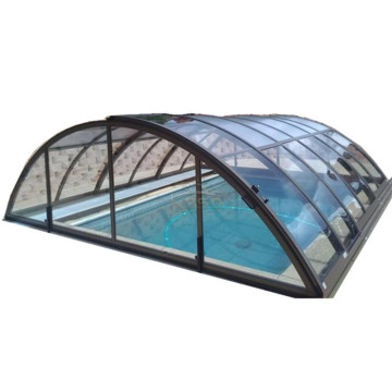 Retractable Cover Mobile Main Drain Swimming Pool Roof