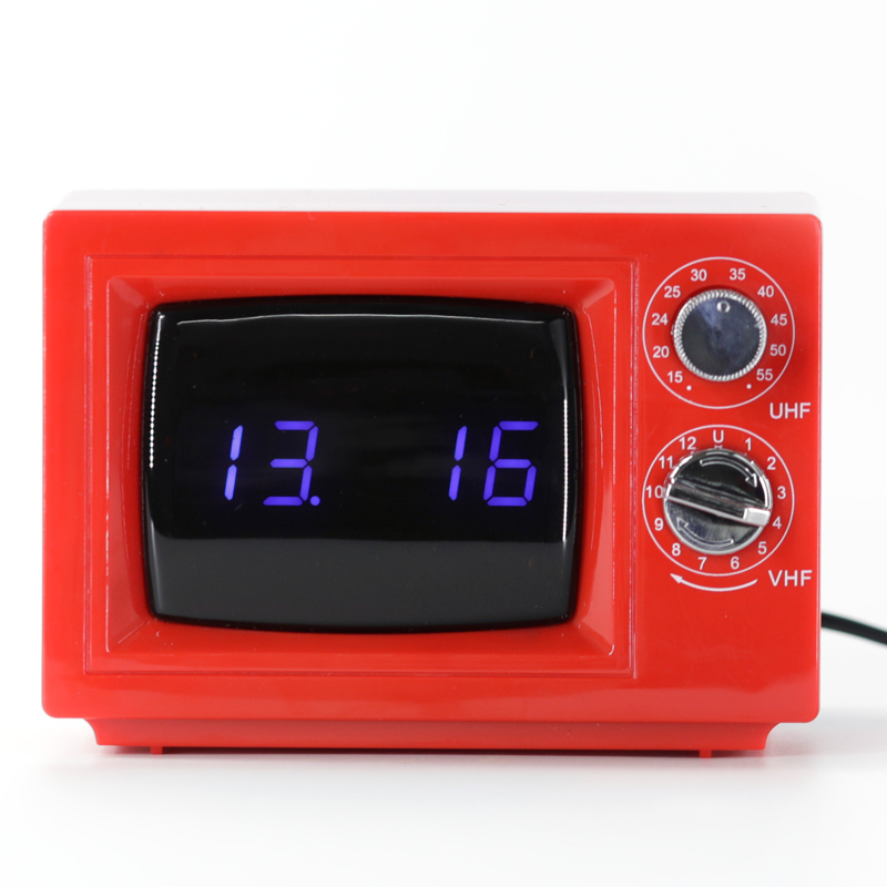 Small TV Digital Clock with Decorative Light