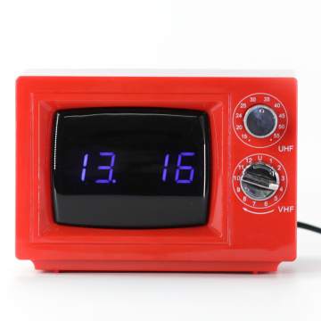 TV Digital Alarm Red Table Clocks