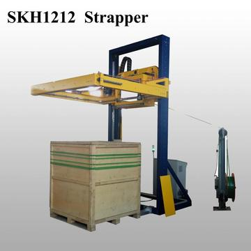 Wood board strapping machine with TITAN sealing head