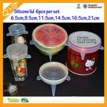 Big Discount for Kitchen Silicone Stretch Lids Creative Green Eco-friendly Silicone Lid export to Tuvalu Factory