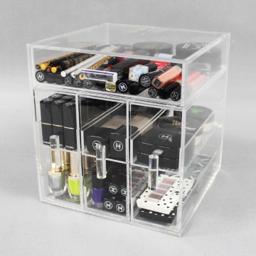 Cheap Acrylic Makeup Organizer Box with Drawers