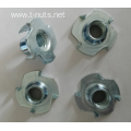 Zinc plated standard Prong T- nuts