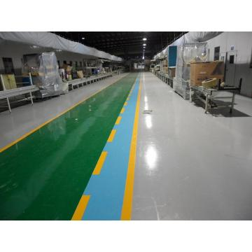 Colored epoxy floor paint for workshop