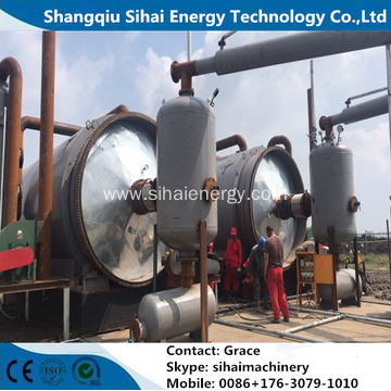 5 Tons Waste Tire Recycling To Oil Machine