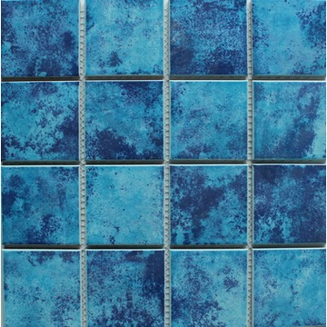 Charming Blue Swimming Pool Porcelain Mosaic