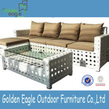 outdoor garden rattan wicker aluminum sofa set cushion