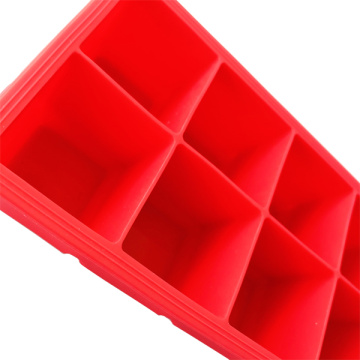 Red silicone ice ice tray