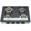 4 Burners Black Glass Gas Stove
