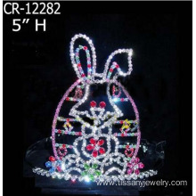 Wholesale Custom Rhinestone Rabbit Crowns