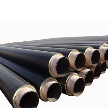 Black and Yellow Jacket Steam Insulation Line Pipe