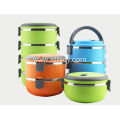 Stainless Steel Multi-layer Insulated Lunch Box Round Shape