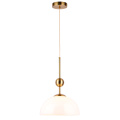 Semicircle Pendant Light With white Glass Lampshade