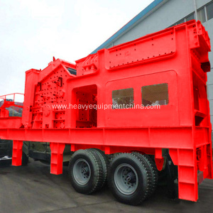 Mobile Impact Crushing Station For Aggregate Production Line
