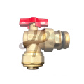 aluminum handle brass ball valve angle type with union