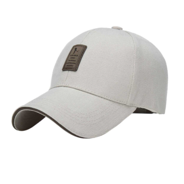 Leather Patch Cotton Twill Adult Golf Cap