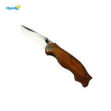 wooden handle stainless steel pocket knife
