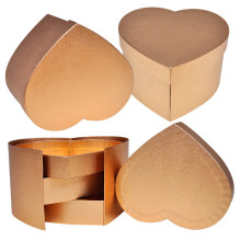 Gold Special Heart Christmas Gift Boxes Wholesale