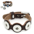 Noosa Real Leather Watchband Bangle DIY Buttons Bracelets