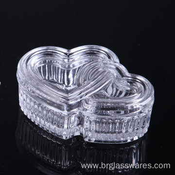 Wholesale Discount for Black Jewelry Box Hear Shape Glass Jewel Box Ideal Christmas Gift export to Netherlands Manufacturer