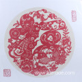 Round frame paper-cut scroll silk paper-cut craft gift