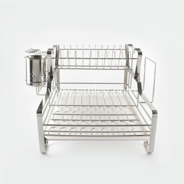 Kitchen Stainless Steel Draining Storage Rack For Dishes