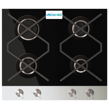 Designer Four Burner Gas On Glass Hob