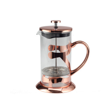 Copper Glass French Press Coffee Maker