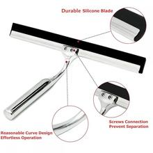 Bathroom shower glass squeegee cleaner window wiper