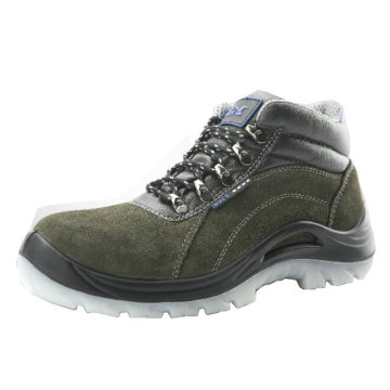 Suede Leather PU/Rubber Sole Safety Shoes