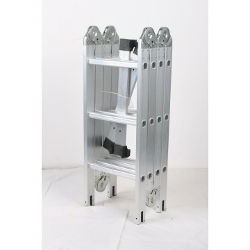 Easy folding aluminum multipurpose ladder