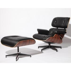 Competitive Price for Luxury Leather Lounge Chairs Best Charles Eames Lounge Chair And Ottoman Replica supply to India Exporter