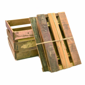 Professional for Wooden Crates Cheap gift paulownia wooden storage shipping unfinished crates wholesale supply to Mauritius Wholesale
