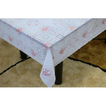 Printed pvc lace target tablecloth by roll