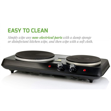 Double Hotplate Burner Solid Hotplate Kitchen Appliance