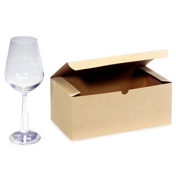 High quality paper tableware wine glass packing box