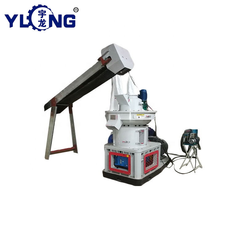 Waste pine wood pellet press granulator mill for sale