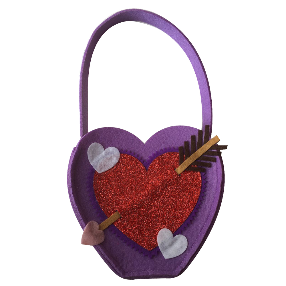 Valentine S Day Felt Jewelry Storage Bag