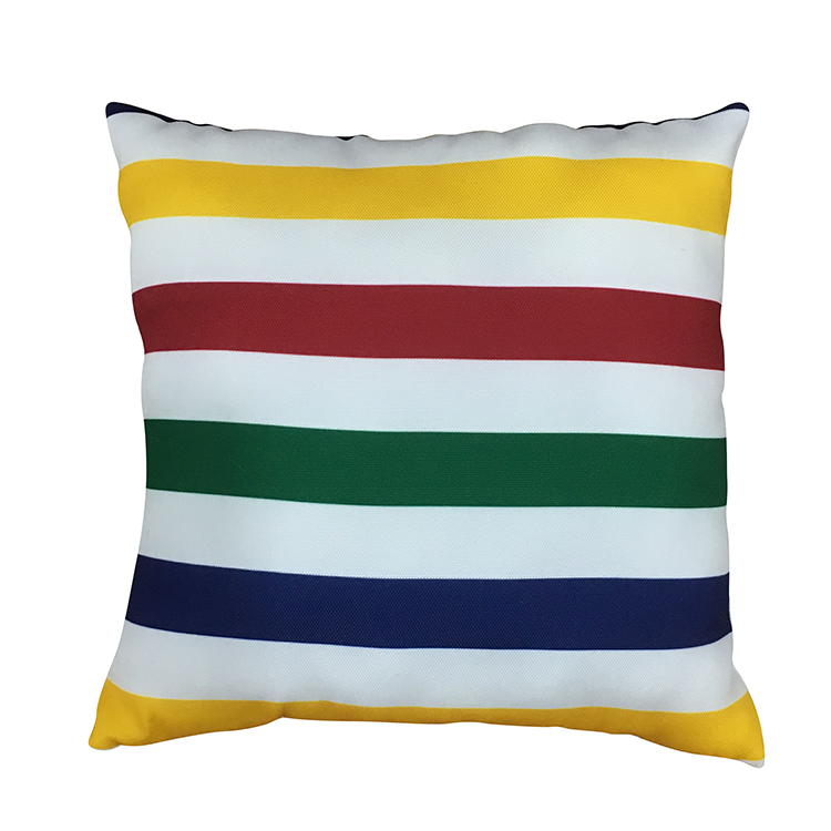 Rainbow Stripe Soft Pillow