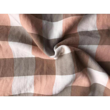 polyester yarn dyed check fabric for bedsheet
