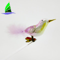 Artificial Feather Bird Figures Christmas Ornaments
