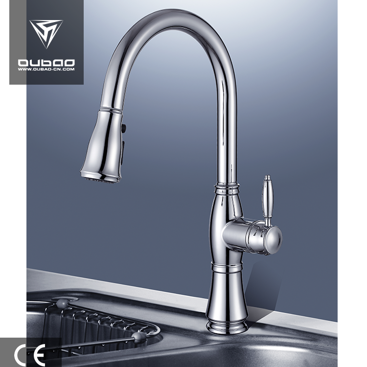 Zinc handle kitchen sink mixer faucet