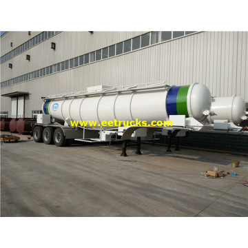 21000L 3 Axles Sulfuric Acid Transportation Trailers