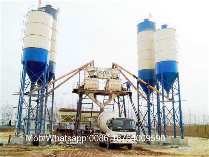 HZS70 Stationary Type Concrete Batching Plant