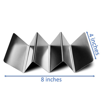 Taco Holder Stand Stainless Steel 4 pack