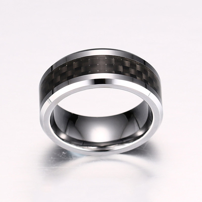 Tungsten Carbide Carbon Fiber Ring