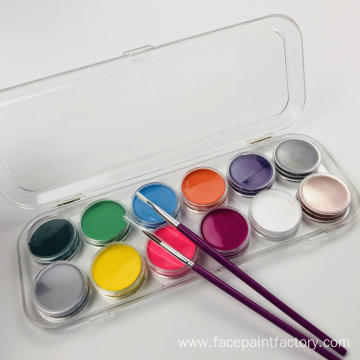 Non-toxic hypoallergenic 12 colors party face paint