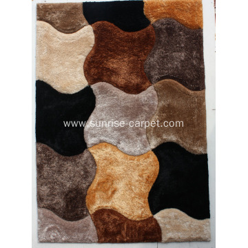 100% polyester elastic & thin silk shaggy 3D pattern