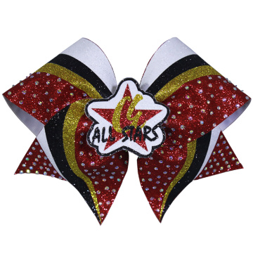 All Stars Stripes Eye Catching Cheer Bows